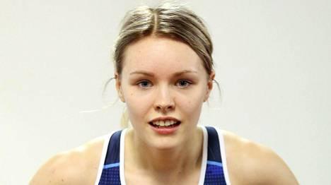 Anniina Kortetmaa juoksee huomenna naisten 60 metrin finaalissa.