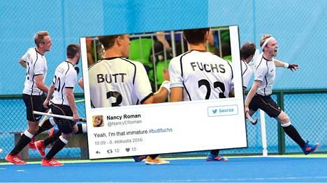 Saksan maahockeyjoukkueen jäsenet tuskin ajattelivat heistä ikuistetun hetken lähtevän leviämään sosiaalisessa mediassa.