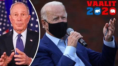 Mike Bloomberg tukee Joe Bidenin pyrkimystä päästä Yhdysvaltain presidentiksi.