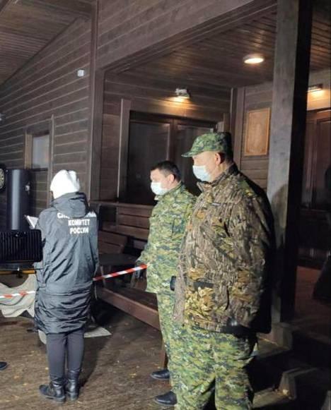 Venäjän tutkintakomitean julkaisemia kuvia surmapaikalta.