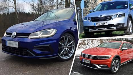 Myydyimmät automallit olivat Volkswagen Golf, Skoda Octavia ja VW Passat.