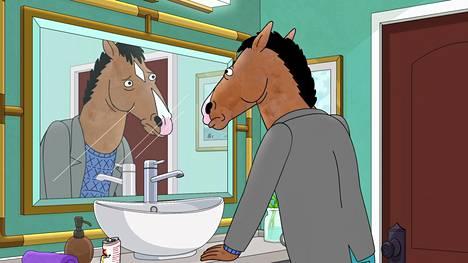 Ihmismäinen hevonen yrittää epäonnistuneen tv-uran jälkeen nousta takaisin tähdeksi animaatiosarjassa Bojack Horseman.