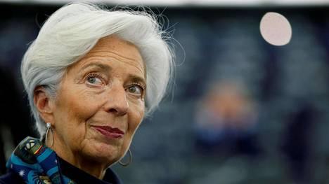 Euroopan keskuspankin pääjohtaja Christine Lagarde.