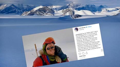 33-vuotias Colin O'Brady ylitti Etelämantereen historian ensimmäisenä ilman apukeinoja.