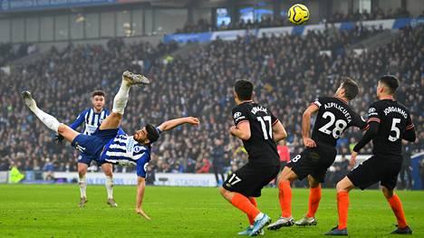 Alireza Jahanbakhshin hieno maali hautasi Chelsean haaveet kolmesta pisteestä.