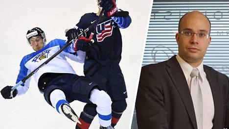 USA:n Clayton Keller veti Juhani Tyrväisen jalkapyyhkäisyllä nurin vain sekunteja ennen USA:n jatkoaikamaalia. SM-liigan kurinpitäjä Sampo Liusjärvi ei ollut mukana tapauksen kurinpitokäsittelyssä.