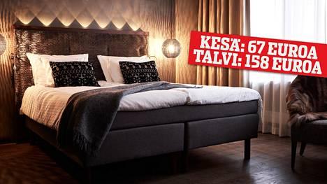 Talven tullen hotelliyöpyminen Lapissa voi kallistua jopa sadalla eurolla.