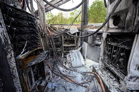 Britannian Huddersfieldissa poltettiin tukiasema huhtikuun 17. päivä.