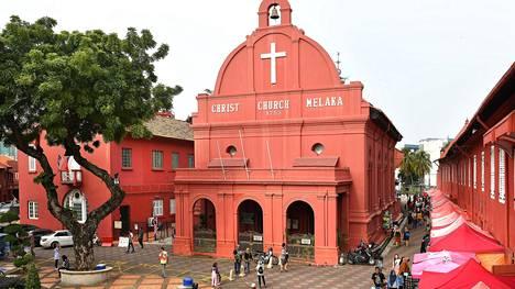 Malakan pääaukion rakennukset ovat Hollannin hallinnoimalta ajalta, 1600–1700 -luvuilta. Monissa rakennuksissa toimii pieniä historiallisia museoita.