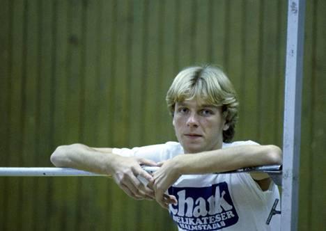 Patrik Sjöberg vuonna 1984, 19-vuotiaana.