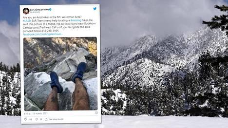 Kalifornialainen vaeltaja on pelastettu San Gabrielin vuoristosta uskomattoman jäljitystyön jälkeen. Hän oli lähtenyt vaeltamaan Waterman-vuorelle tunnetun hiihtokeskuksen lähellä Etelä-Kaliforniassa.