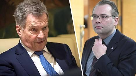 Jussi Niinistö kuvailee kirjassa yhteenottojaan presidentti Sauli Niinistön kanssa.