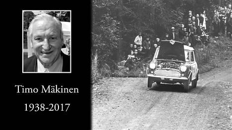 """""""Lentävä suomalainen"""" Timo Mäkinen on poissa. Mäkinen ikuistettiin legendaariseen valokuvaan Ouninpohjassa 1967, kun hän kaasutteli Minillään konepelti pystyssä."""