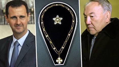 Bashar al-Assadille ja Nursultan Nazabajeville on myönnetty Suomen korkea-arvoisin kunniamerkki.