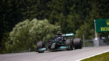Valtteri Bottas sähläsi Itävallan GP:n harjoituksissa.