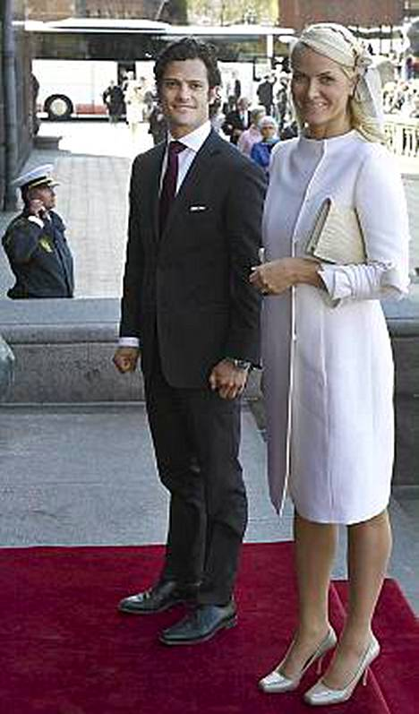 Ruotsin prinssi Carl Philip sekä Norjan kruununprinsessa Mette-Marit.