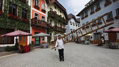 Kiinan Hallstatt on kopio aidosta Hallstattin kaupungista Itävallassa.