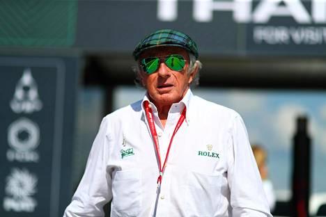 Jackie Stewart on legendaarinen mies F1-piireissä.