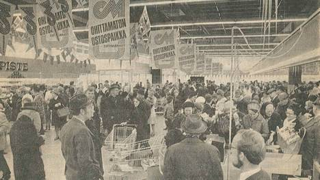 Suomen ensimmäinen Citymarket avattiin 1970-luvulla Lahden Paavolaan.