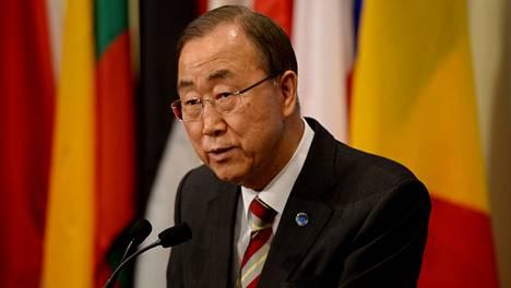 Pääsihteeri Ban Ki-moon.