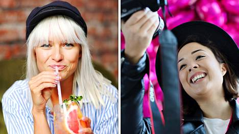 Sara Vanninen (vas.) ja Sita Salminen ovat yrittäjiä, jotka elättävät itsensä sosiaalisella medialla.