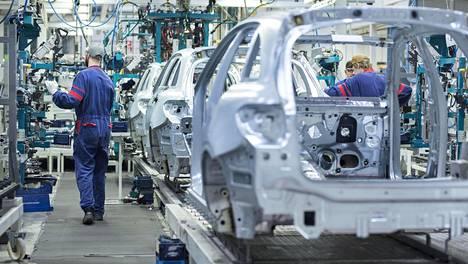 Uudenkaupungin tehtaalla valmistetaan Mercedes Benzin A-sarjan malleja.