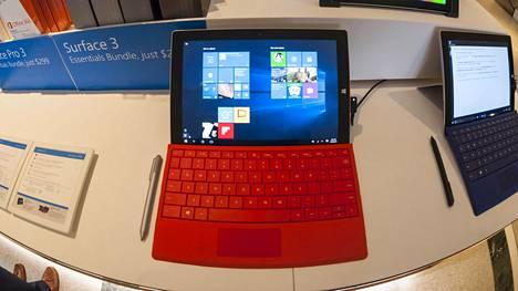 Microsoft on onnistunut Surface-tablettimikroilla hyvin. Kuvassa Surface 3 vuodelta 2015.