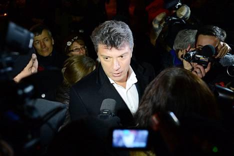 Boris Nemtsov kuvattiin Moskovassa joulukuussa 2012. Nemtsov ammuttiin liikkuvasta autosta tämän vuoden helmikuussa Venäjällä.