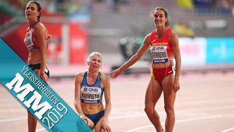 Sara Kuivisto (kesk.) teki 1500 metrillä kaikkensa, mutta jatkoon ei ollut asiaa.