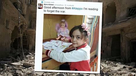 7-vuotias Bana on äitinsä kanssa kertonut Twitterissä maailmalle Aleppon pommitusten julmuudesta.