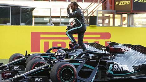 Lewis Hamilton tuli voittajana maaliin 90:nnen kerran F1-urallaan.