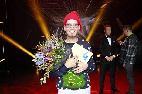 Antton Puonti voitti 30 000 euroa nahkatrumpettiesityksillään.