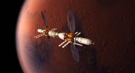 Ihminen astuu todennäköisesti Marsiin vuoteen 2050 mennessä. Kuvassa Nasan ja Lockheed Martinin konsepti Marsiin rakennettavasta pysyvästä tukikohdasta.