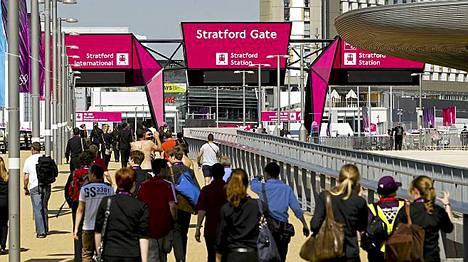 Stratford Gaten metroasema on lähimpänä suurtapahtuman päänäyttämöä.