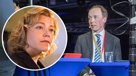 Europarlamentaarikko Henna Virkkunen (kok) ei näe hänen kokoomustaan ja Jussi Halla-ahon perussuomalaisia samassa hallituksessa.
