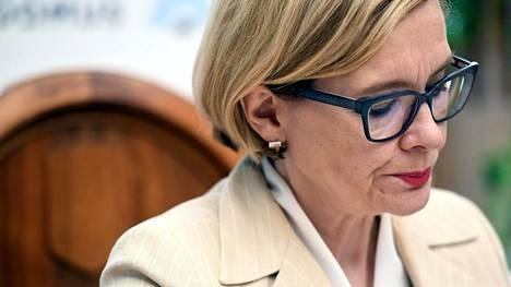 Sisäministeri Paula Risikko (kok) puhui eduskuntaryhmänsä kesäkokouksessa Mikkelissä 22.8.2017.
