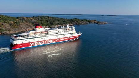 Viking Gabriella oli perjantain ja lauantain välisenä yönä matkalla Helsingistä Visbyhyn. Arkistokuva.