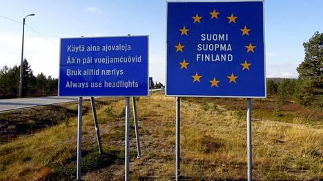 Ajo-ohjeita Norjasta Suomeen saapuville Inarin Näätämössä.