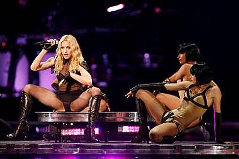 Madonna on tunnettu rohkeasta esiintymisestään ja esiintymisasuistaan.