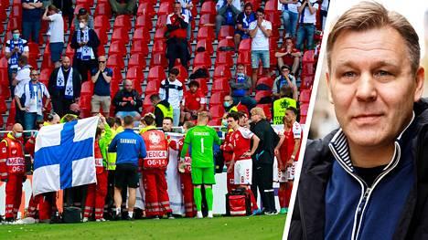 Raimo Summanen (oik.) ei arvostanut tapaa, jolla Tanskan ja Suomen välinen dramaattinen ottelu päätettiin.