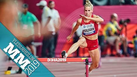Sara Slott Petersen sijoittui 400 metrin aitojen alkuerässään toiseksi. Varma välieräpaikka vaihtui kuitenkin hylkäykseen.
