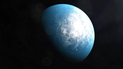 Nasa on julkaissut kuvittajan näkemyksen TOI 700 d -nimisestä kääpiötähteä kiertävästä planeetasta.