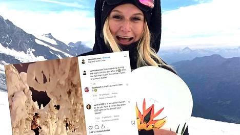 Rovaniemellä asuva Sanni Oksanen tunnetaan Instagramissa kauniista lumilautailukuvistaan. Oksasen tuore video on jaettu maailmalla useissa viihdepalveluissa.