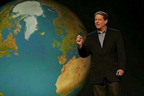 Yhdysvaltain entinen varapresidentti Al Gore jakaa Nobelin rauhanpalkinnon IPCC:n kanssa.