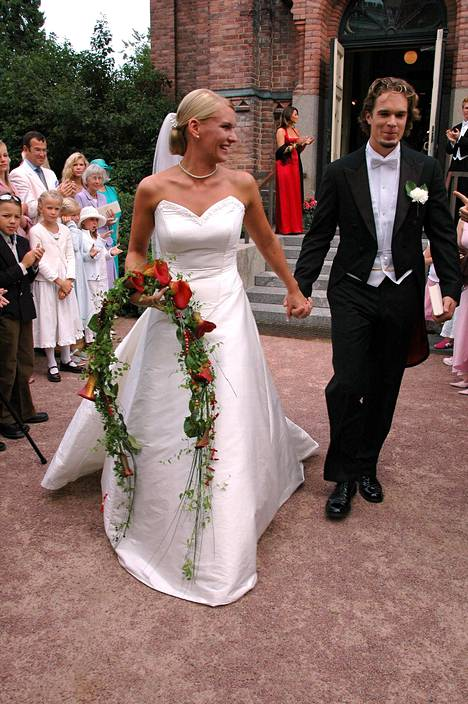 Heidi ja Niklas vihittiin Jyväskylässä elokuussa 2005.
