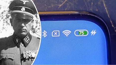 SS-logoa kantoivat myös rintamasotilaat. Kuvassa suomalaisen SS-pataljoonan päällikkö, saksalainen everstiluutnantti Hans Collani kesäkuun alussa 1943 Hangossa. Nyt kaksoissalama on tehnyt paluun kiinalaispuhelimessa.