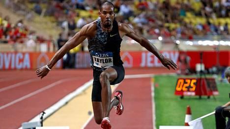 Christian Taylor hyppäsi heinäkuun 12. päivänä Monacon Timanttiliigan osakilpailussa.