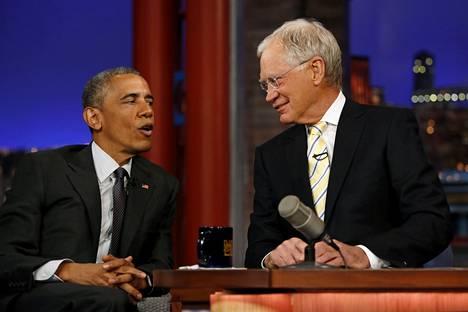Vuonna 2009 Letterman sai vieraakseen presidentti Barack Obaman.