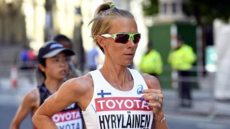 Anne-Mari Hyryläinen oli 25. MM-maratonilla.