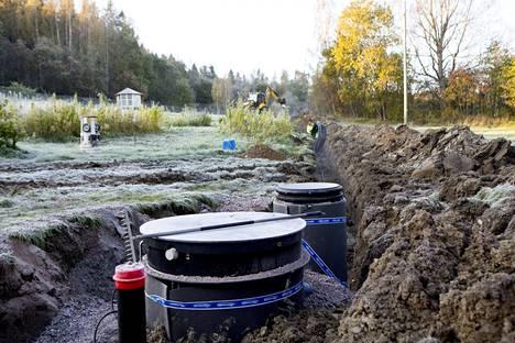 Siuntiossa tehtiin jätevesiremonttia 2014.
